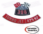 Chevy 396/425 Horse Power  Air Cleaner Decal