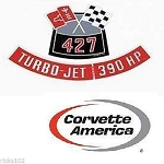 Chevy 427/390 Horse Power  Air Cleaner Decal