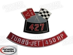 Chevy 427/450Horse Power  Air Cleaner Decal