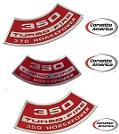 Chevy 350   Air Cleaner Decal   **CHOOSE HORSE POWER**