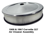 66 & 67 Corvette 327 Air Cleaner Assembly w/ Chrome Top & 327 Decal