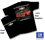 Chevrolet Premium Cotton  Camaro Graphics Tee Shirt ( Select Size  L & XL)