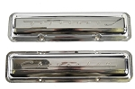 Chevy Script Valve Covers , CHROME PLATED, Officially Licensed GM Restoration Parts