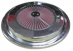 1976-1981 C3 CORVETTE CHROME/RED AIR CLEANER LID / COVER