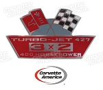 Chevy 427/400 Horse Power  Air Cleaner Decal