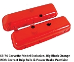 C3 Corvette 1968-1974 Big Block Orange Valve Covers***NEW OEM Reproduction *