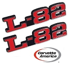 1973-1979 CHEVY CORVETTE L-82 HOOD EMBLEMS -NEW - PAIR AS PICTURED