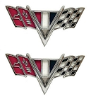 Chevy Models V-Flag Fender Emblem Set
