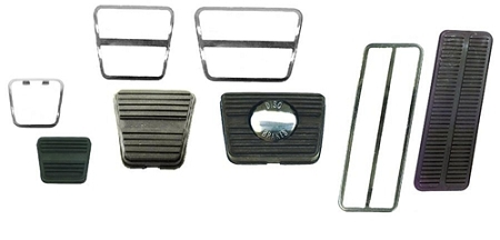 "72*-81 Camaro /& Firebird Clutch /& /""DISC BRAKES/"" Brake Pedal Pad /& Stainless Trim"